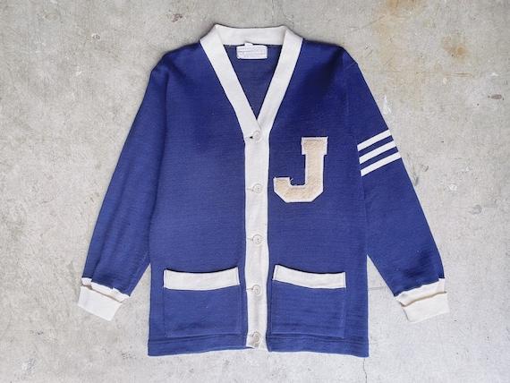1950's Navy Varsity Sweater / Unisex M