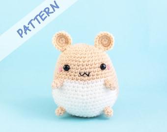 Hamster Crochet Pattern - Amigurumi Stuffed Animal Plush Pattern for DIY and Gift