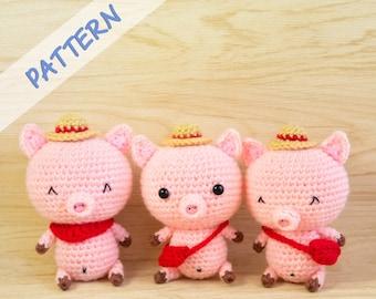 Pig Crochet Pattern, Pig Amigurumi Pattern, Stuffed Animal Pig Plush Pattern, DIY Piggy Crochet Pattern, Crochet Lover Gift