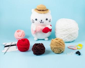 Amigurumi Jointed Cat Pattern | Cat pattern, Stuffed animal ... | 270x340