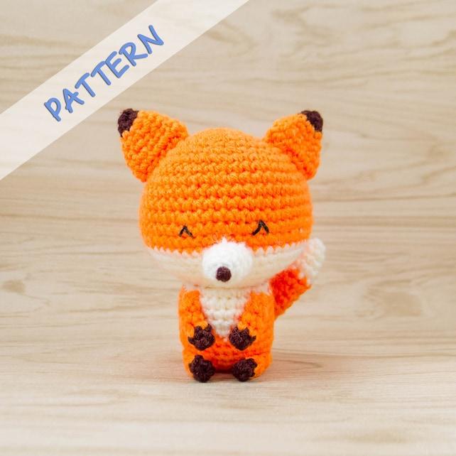 Fox Crochet Pattern Amigurumi Fox Pattern Stuffed Animal Etsy