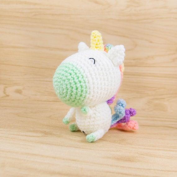 Regenbogen-Einhorn Amigurumi Häkeln Kit DIY gefüllte Tier