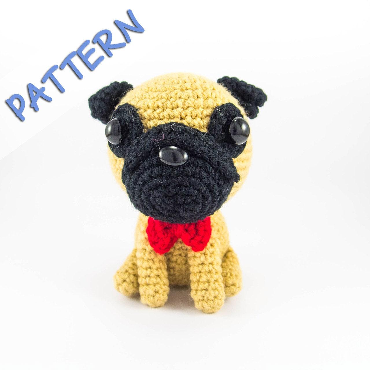 Pug Crochet Pattern Pug Amigurumi Pattern Dog Crochet | Etsy