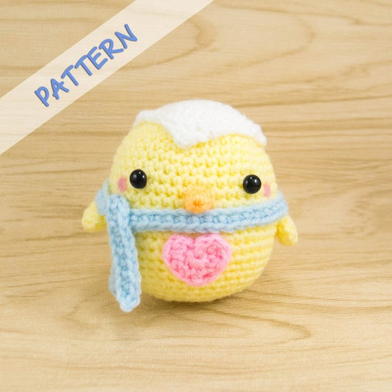 Diy Easter Chick Crochet Pattern Crochet Chick Pattern Etsy