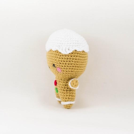 Gingerbread Crochet Pattern Crochet Gingerbread Man Pattern   Etsy