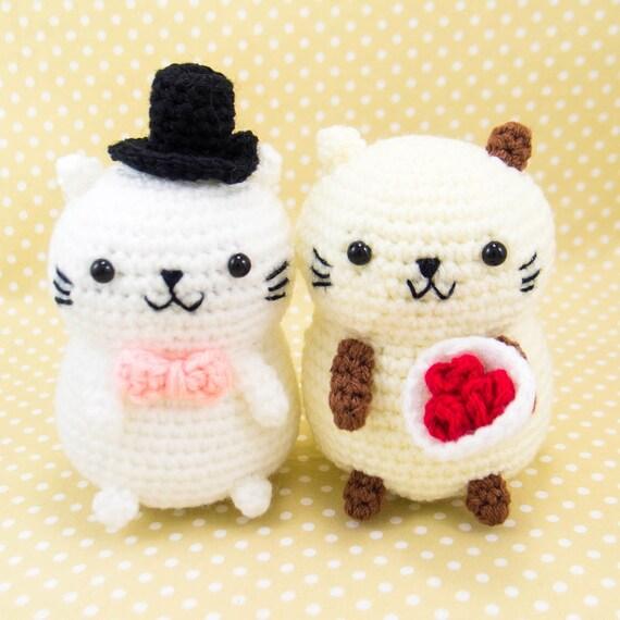 Katze häkeln Kit Cat Amigurumi Kit Cat paar Bausatz | Etsy