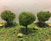 Miniature Orange Trees - Outdoor Miniatures - Miniature Trees - Wedding Cake Toppers -Camping Terrarium -Forest Miniatures-Miniature Camping