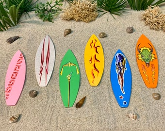 Timeless Miniature Surf Board Approx 2.75 inches long Fairy Garden Doll   B159