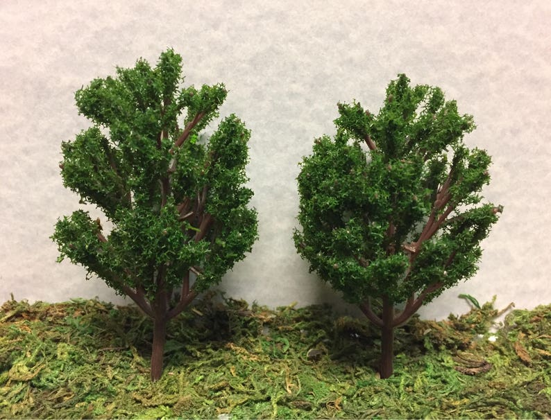 Miniature Dark Green Trees Outdoor Miniatures Miniature Etsy