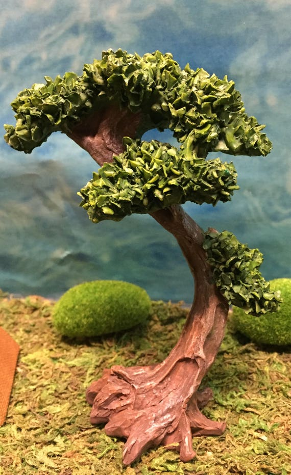 Miniature Large Resin Tree Outdoor Miniatures Miniature Etsy