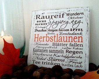 pfeifers: Wooden sign - autumn moods