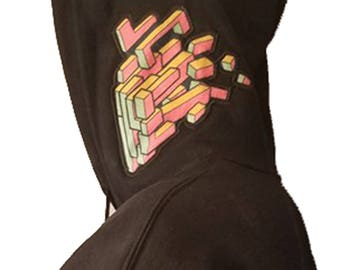New Perspective Applique Hoodie- Cotton Candy Variant