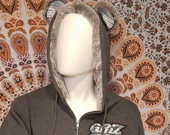 Ascendit Fumus Ursi Fuzz Lined Zip Hoodie