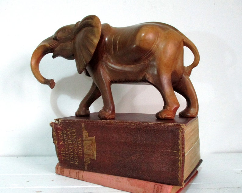 Wooden Elephant Statue Large Carved Wooden Elephant African Elephant Elephant Sculpture Elephant Figurine African Carvings