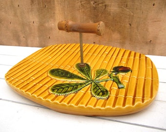 Cheese Platter, French Cheese Plate, Vintage Cheese Serving Dish, Cake Stand, Vallauris Pottery, Serving Platter, French Vintage