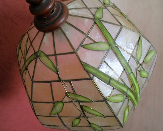 Gorgeous Vintage Capiz Shell Shade