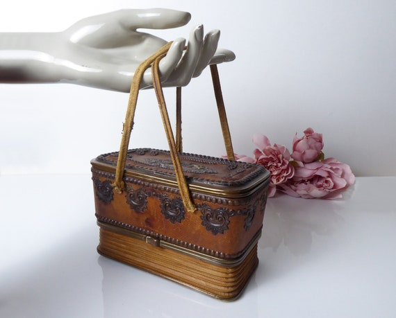 French Antique Concertina Vanity Case