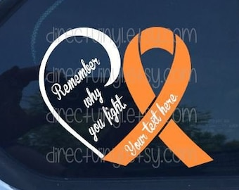 Orange Ribbon FU Cancer Orange Ribbon Decal Kidney Leukemia FCK Cancer Vinyl Car Truck Vehicle Sticker