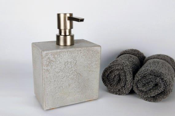 Grey Concrete Soap Dispenser, Soap Dispenser Pump, Soap Dispenser Kitchen,  Soap Dispenser Bathroom, Soap Dispenser for Sink, Modern Bathroom