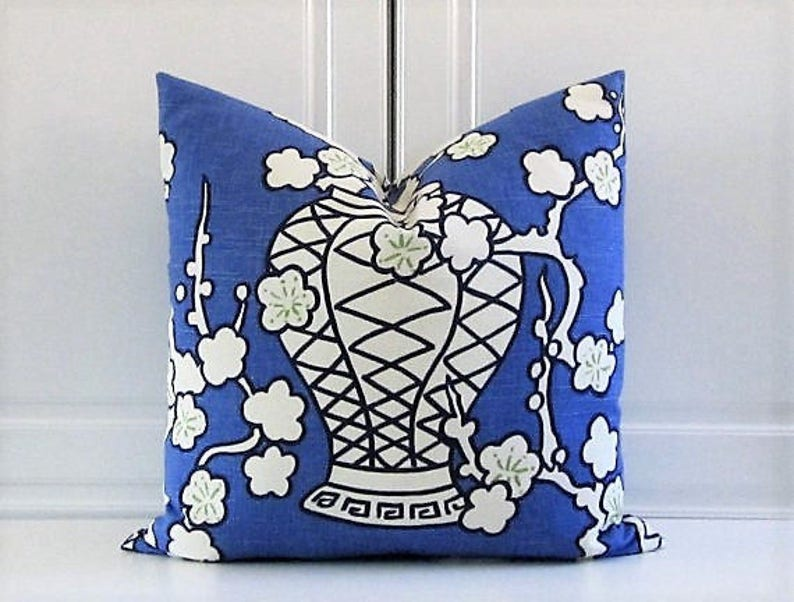 Free Shipping-Decorative Pillow Cover Hyacinth Blue Cache image 0