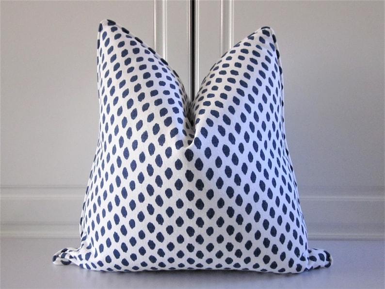 Indigo Blue Decorative Pillow Cover-Sahara image 0