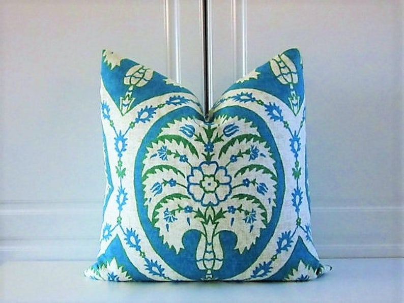 Free Shipping-Pillow Cover-Turquoise & Emerald Green image 0