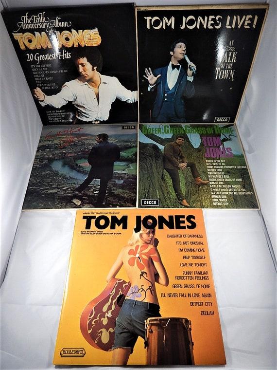 Tom Jones 5x Albums LP Records Lot