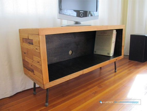 Rustic Tv Stand Reclaimed Wood Tv Stand Modern Tv Console Mid Etsy