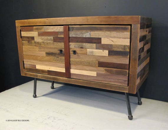 Reclaimed Wood Tv Stand Modern Reclaimed Wood Media Console Etsy