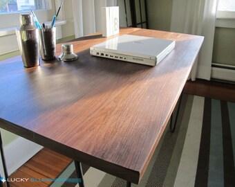 Reclaimed Wood Desk Solid Walnut Desk Reclaimed Wood Table Solid Walnut Table Mid Century Desk Modern Walnut Desk Reclaimed Wood Walnut Desk