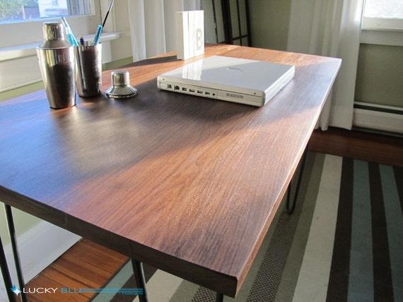 Bureau bois récupéré bureau noyer massif récupéré table en etsy
