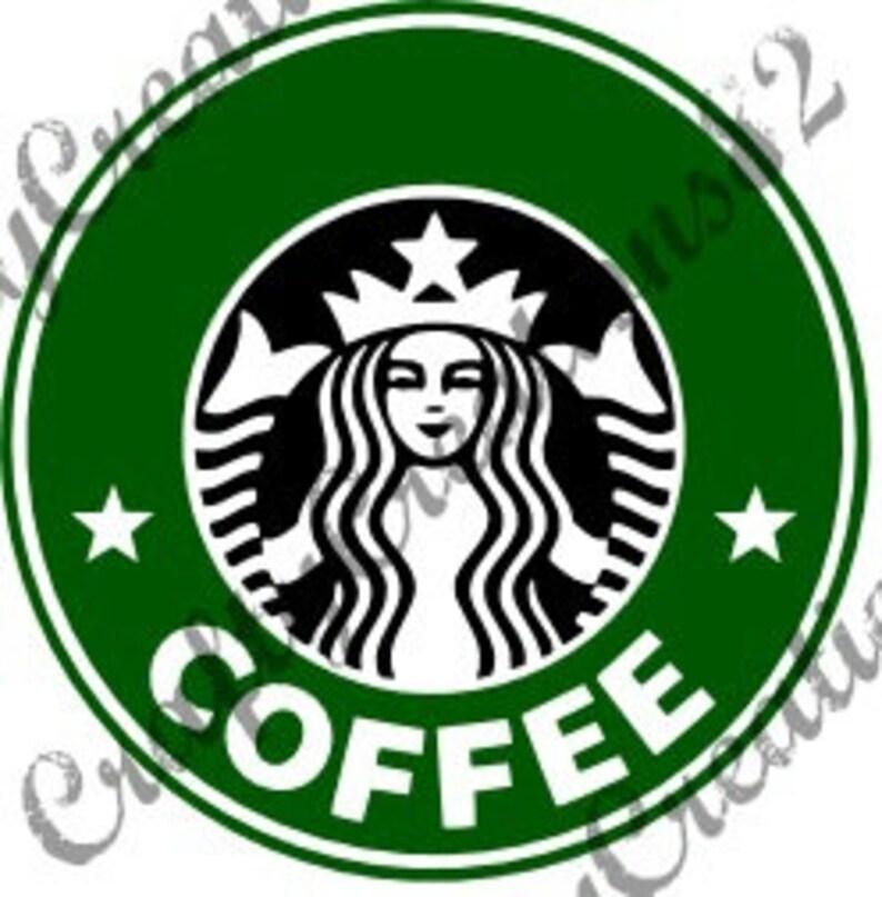 Starbucks SVG Image File Just Add Name image 0