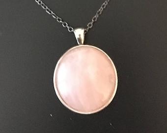 """Necklace - Rose Quartz Gem (16""""-24"""")"""
