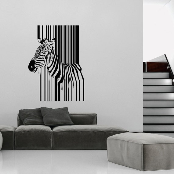 Amazing Art Wall Decals Wall Stickers Barcode Zebra Many colours New!