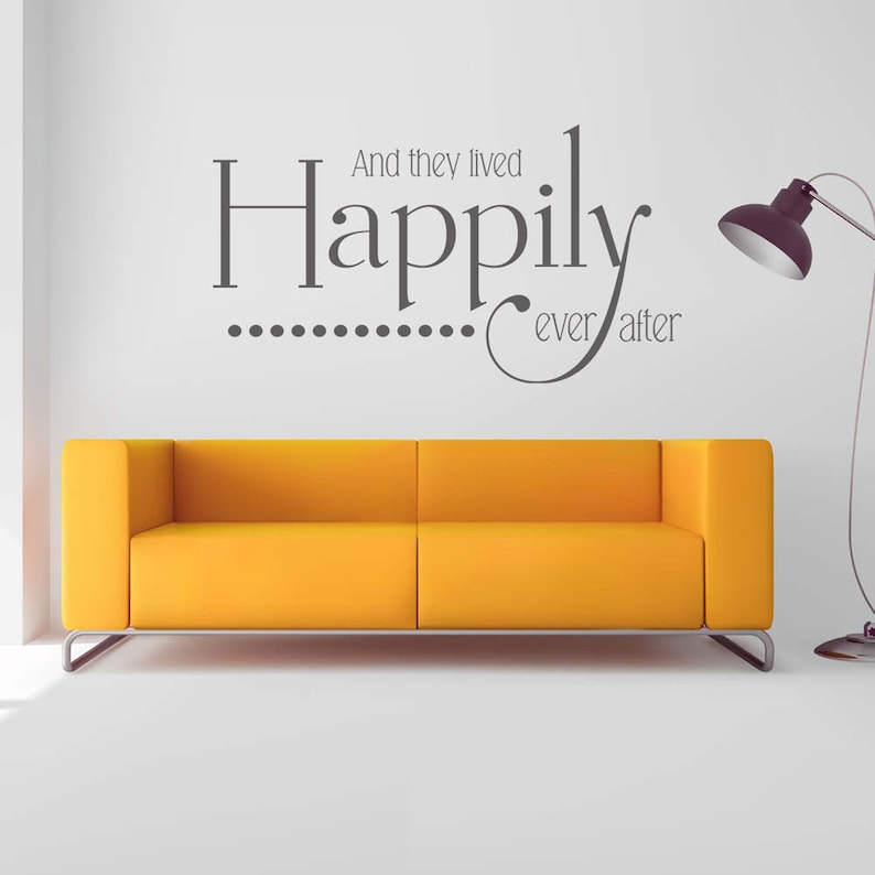 And They Lived Happily Ever After Personalized Names Date Sign Wedding Gift Established Sign Just Married Vinyl Wall Decal Sold By Decal Drama On Storenvy