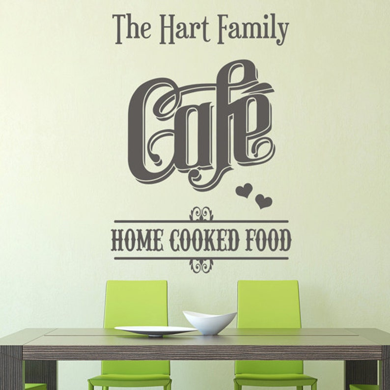 personalised family name cafe home cooked food kitchen | etsy