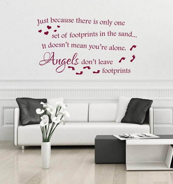 Angels dont leave footprints in the sand wall decal vinyl | Etsy