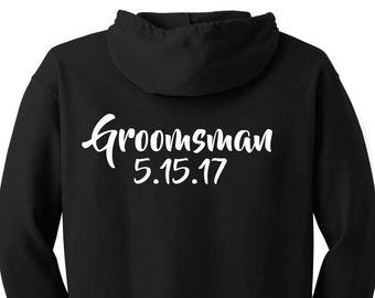 Groomsman Hoodies, Groomsmen Hoodies, Groom Hoodie, Best Man Hoodie, zip up sweatshirts, zip up hoodies