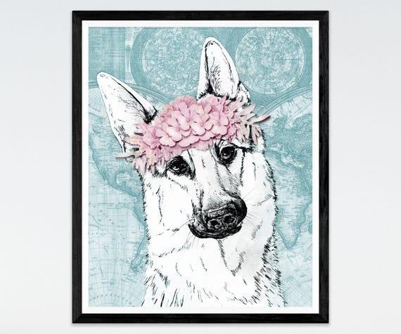 2019 Hot Gold//Silver German Shepherd Alsatian Wolf Dog Breed Men//Women Necklace