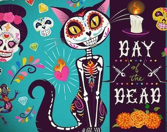 Dia de los Muertos | Day of the Dead PNG Clip Art Collection