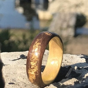 Skinny rings Wood ring Viking ring Whisky ring Womens wood ring, Tiara ring Viking Wedding Ring Wooden wedding rings
