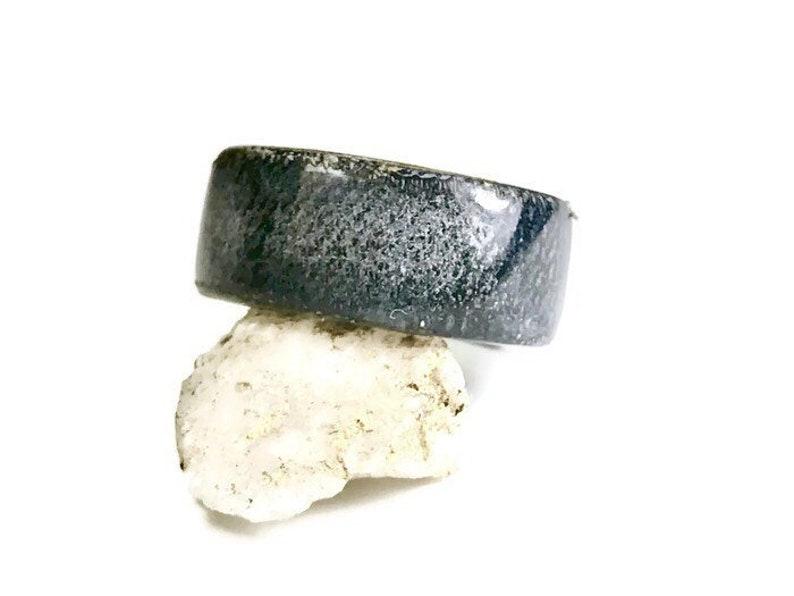 Meteorite engagement ring Wooden rings for men Mens Engagement Ring Wood ring men Mens engagement ring,