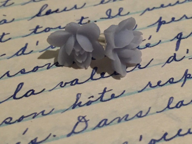 earrings flowers earrings pink studs flower earrings pink earrings gift for her bridemaids gift stud boho stud romantic Flower