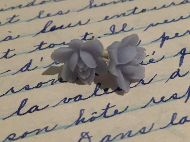 gift for her flower earrings boho stud romantic stud earrings flowers earrings pink studs Flower pink earrings bridemaids gift