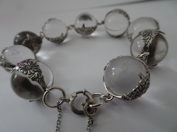 Antique Pools of Light Sterling Silver Floral Band