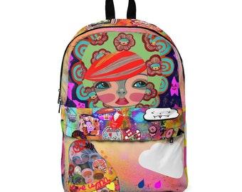 3a05a15f448 Unisex Classic Backpack Street Art Gretchen by Kosharek Art
