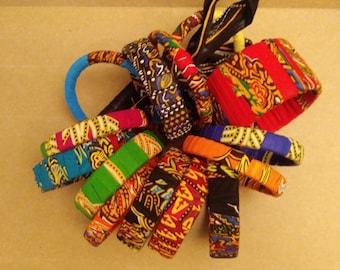 Ankara Fabric Bracelets