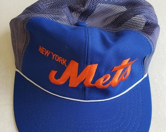 8057de77496c56 Vintage New York Mets Trucker Snapback hat