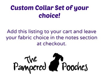 Custom Bow Tie Collar Set of your choice, pet photography