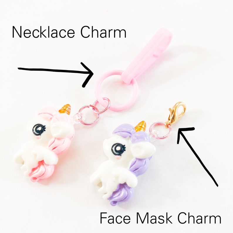 Cupcake Charm Necklace or Face Mask Chain Charms